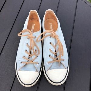 Converse light blue with Tan laces size 7